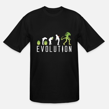 Geek Evolution Of An Alien - Men's Tall T-Shirt