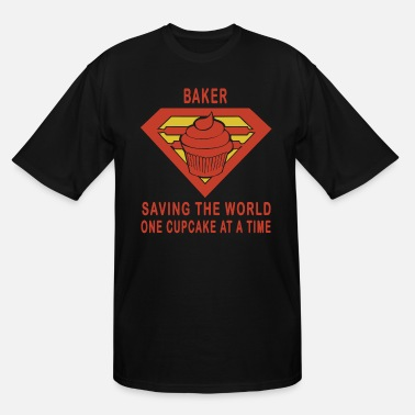 Baker saving the world one cupcake at a time - Men's Tall T-Shirt