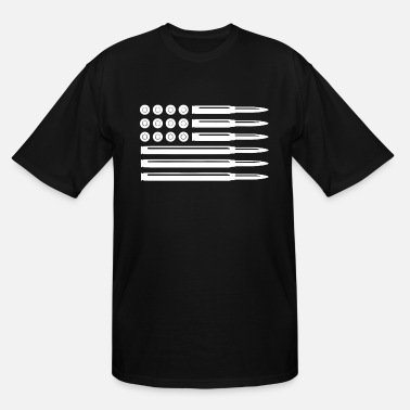 Pro Bullets American Flag Usa Pro Gun Rights Infidel N - Men's Tall T-Shirt