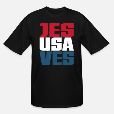 Cool Christian Jesus Saves USA Christian Americana Patriotic Cool - Men's Tall T-Shirt