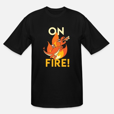 Aging On Fire! - Cute Dragon - Men's Tall T-Shirt