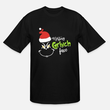 Grinch Resting Grinch Face - Men's Tall T-Shirt