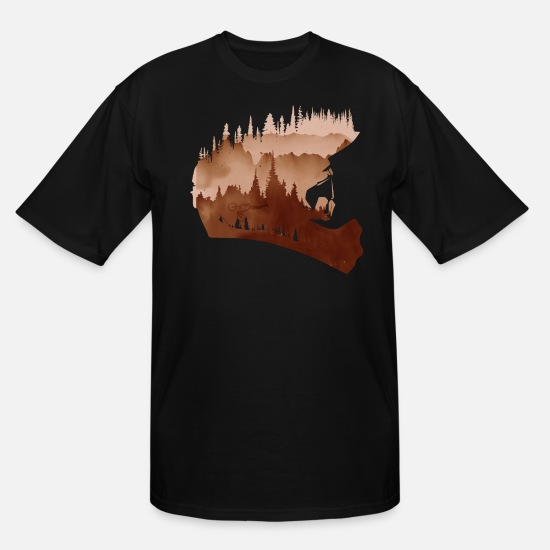 Forest Landscape T-Shirts - Fullface - Men's Tall T-Shirt black