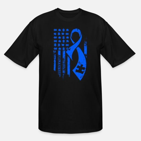 Autism T-Shirts - Autism Awareness - Men's Tall T-Shirt black