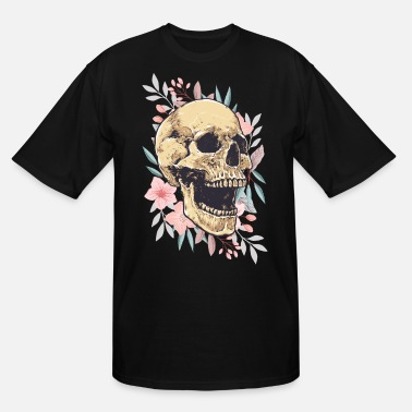 Skull Flower skull in flowers - Men's Tall T-Shirt