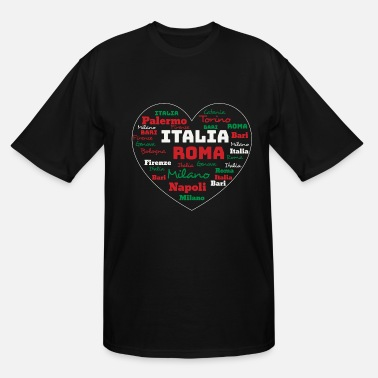 Cuore ITALY HEART ITALIA CUORE CLOUD HOLIDAY (ORIGINAL) - Men's Tall T-Shirt