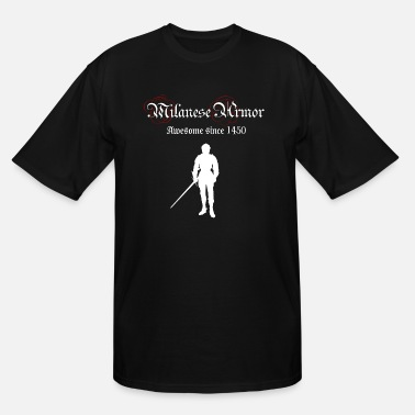 Medieval Milanese Armor - Men's Tall T-Shirt