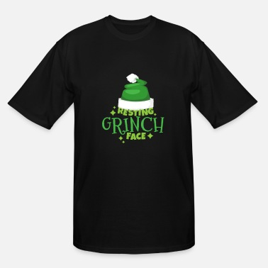 Grinch Resting Grinch Face Christmas Humor - Men's Tall T-Shirt