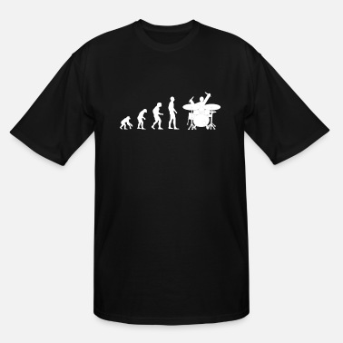 Pommesgabel Drummer Drum Drumsticks Evolution - Men's Tall T-Shirt