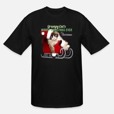 3f28dd4f0 Christmas Cat GRUMPY CAT'S WORST CHRISTMAS EVER - Men'. Men's Tall T -Shirt