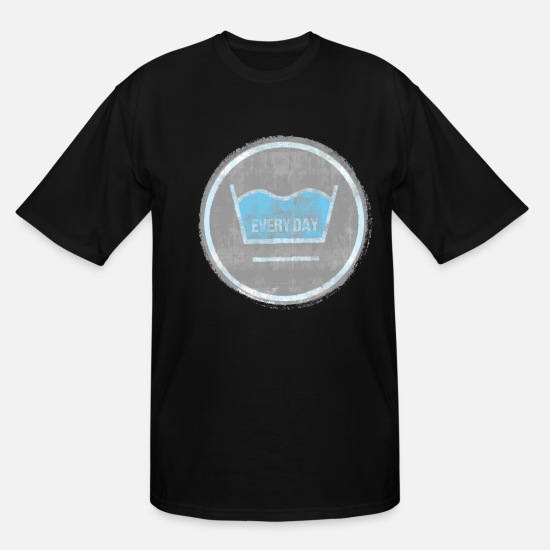 Washing Machine T-Shirts - washing - Men's Tall T-Shirt black
