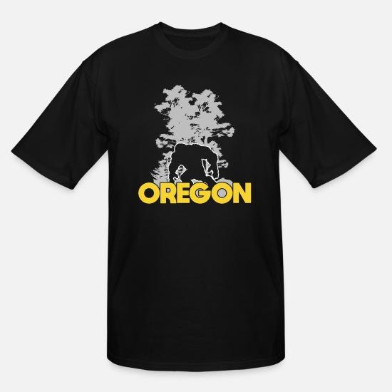 f3dd281e583c06 Bigfoot T-Shirts - Bigfoot Oregon Sasquatch - Men's Tall T-Shirt black