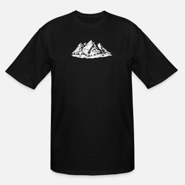Mountains Hiking - mountains, mountains, trees, forest, fir - Men's Tall T-Shirt