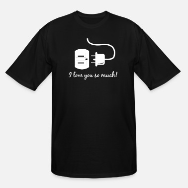 Socket Plug and socket Valentine's day gift - Men's Tall T-Shirt