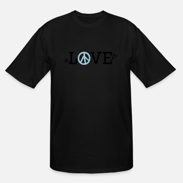 Text LOVE PEACE text symbol - Men's Tall T-Shirt