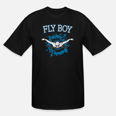 Boy Swimming Swim Fly Boy - Men's Tall T-Shirt