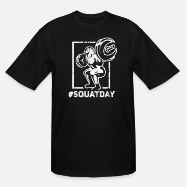 Squat Squatday Powerlifting Squat Bench Deadlift - White - Men's Tall T-Shirt