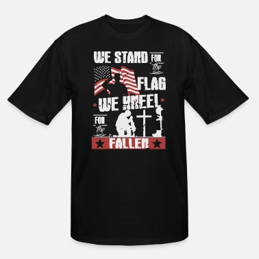 Kneel We stand for the Flag - Men's Tall T-Shirt
