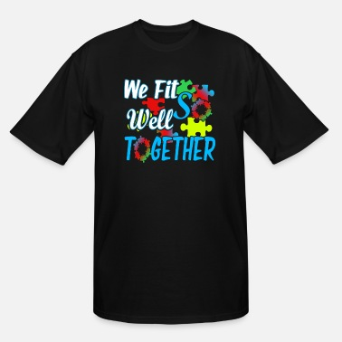 Puzzle JIGSAW PUZZLE FIT WELL TOGETHER SHIRT - Men's Tall T-Shirt