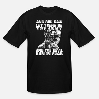 Us Army Europe Us Army - God said let there be the army - Men's Tall T-Shirt