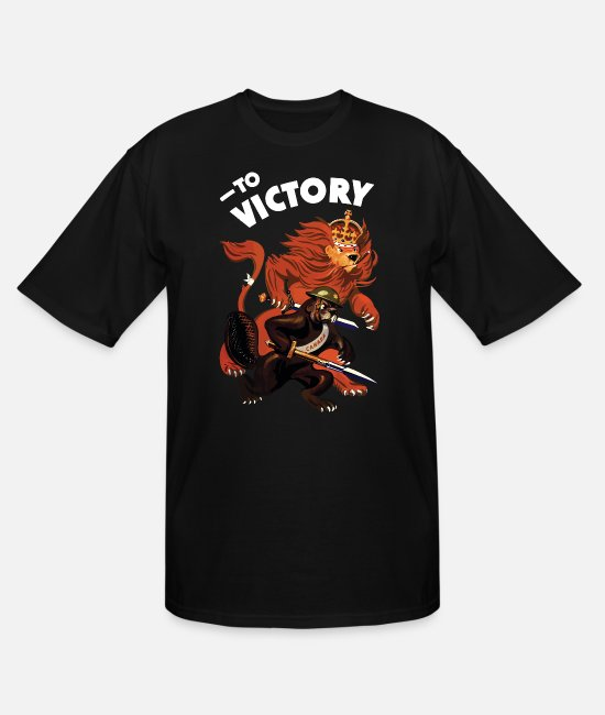 Canada T-Shirts - To Victory WW2 - Men's Tall T-Shirt black