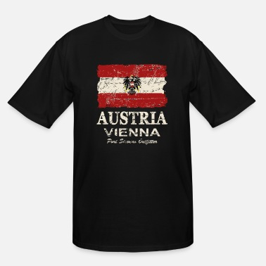 Austria Austria Flag - Vintage Look - Men's Tall T-Shirt