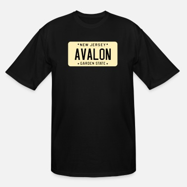 Avalon Avalon New Jersey License Plate - Men's Tall T-Shirt