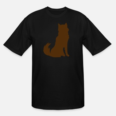 Furry HUSKY DOG furry cute shape - Men's Tall T-Shirt