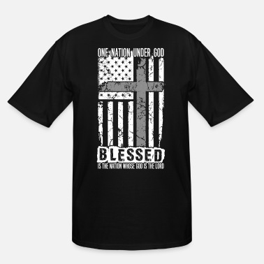 Cool Christian Christian - Under god blessed, god is the lord - Men's Tall T-Shirt