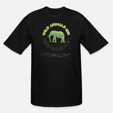 Online Wild Animals Live - Yellow Green Elephant - Men's Tall T-Shirt