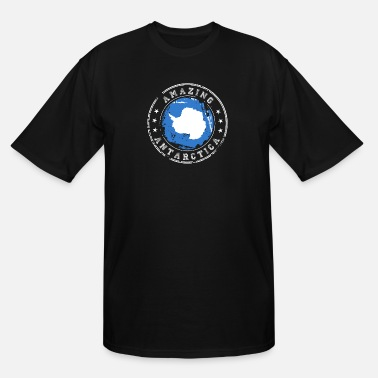 Antarctica Amazing Antarctica Blue Flag Badge - Men's Tall T-Shirt