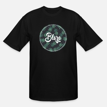 Trippy Weed Blaze Weed Graphic - Men's Tall T-Shirt
