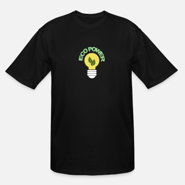 Electricity Ecopower black Souvenir, Gift, Gift Idea - Men's Tall T-Shirt