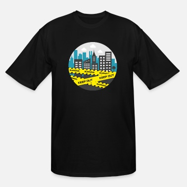 Circle City blockade / Lockdown circle illustration - Men's Tall T-Shirt