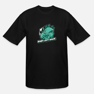 Baby Got Back Stegosaurus Dinosaur Funny Design - Men's Tall T-Shirt