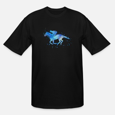 Horse Racing Horse racing, watercolor horse racing - Men's Tall T-Shirt