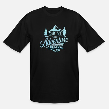 World The Adventure Begins Travel Explore Vacation - Men's Tall T-Shirt