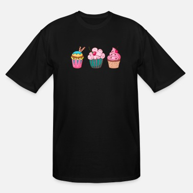 Cake Cupcake Muffin Bakery Cake Candy Sweets Cookie - Men's Tall T-Shirt