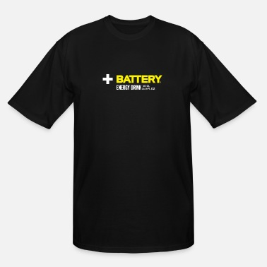 Energy BATTERY ENERGY DRINK LOGO [PNG] - Men's Tall T-Shirt