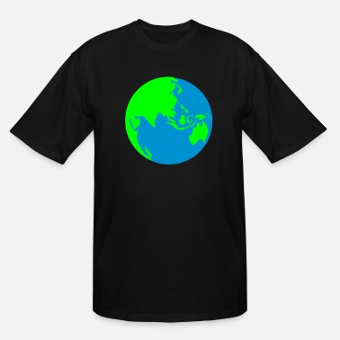 Central Asia A WORLD GLOBE central asia australia and singapore - Men's Tall T-Shirt
