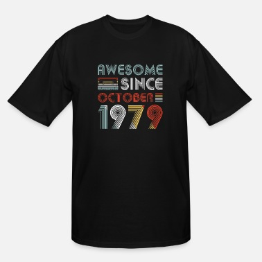 October Vintage Awesome Since October 1979 40th Birthday - Men's Tall T-Shirt
