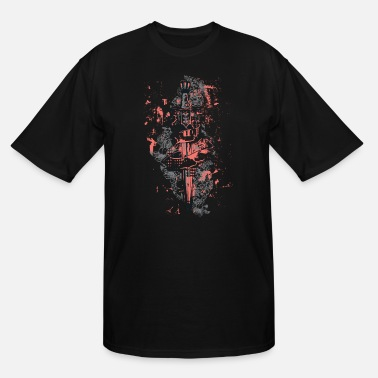 Shield A Sword, A Scroll, Flowers and Grunges - Men's Tall T-Shirt
