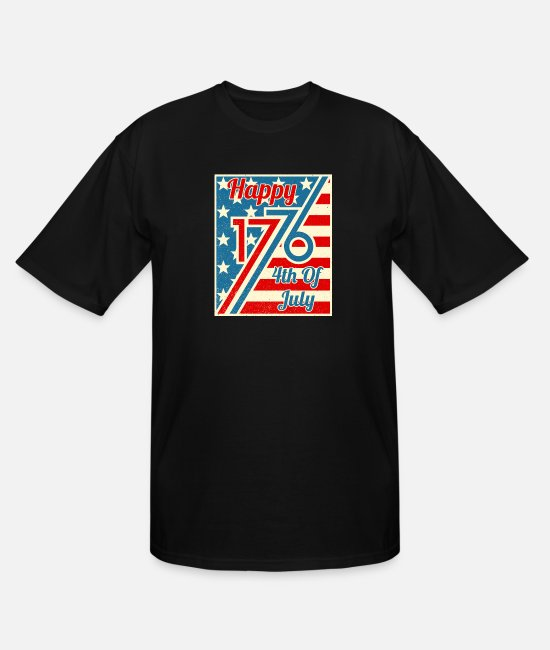Patriotic T-Shirts - Happy 4th Of July 1776 Independence Day - Men's Tall T-Shirt black