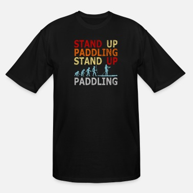 Stand Retro Vintage Evolution Stand Up Paddling Paddle - Men's Tall T-Shirt