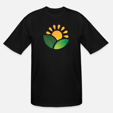 Obscure Sunrise Obscured Leaves - Men's Tall T-Shirt