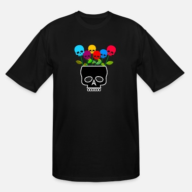 Skull Flower skull flowers / skull / flowers - Men's Tall T-Shirt