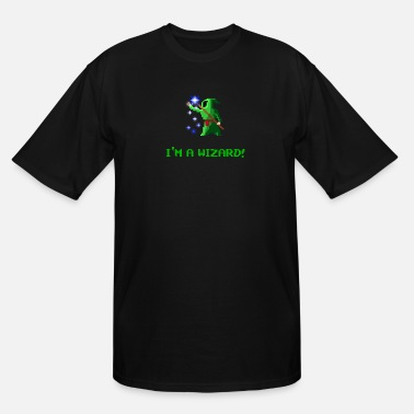 Pixel I'm a Wizard green - Men's Tall T-Shirt