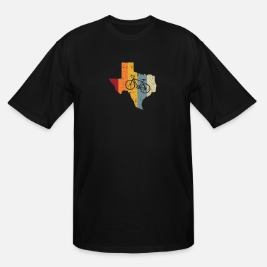 Texas Bike Texas Bicycle Colorful Map Cool Gift Idea - Men's Tall T-Shirt