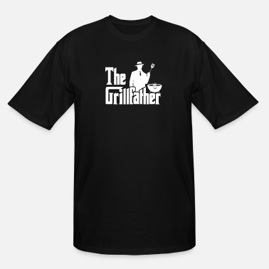 Sausage The Grillfather Funny BBQ Grilling graphic for - Men's Tall T-Shirt