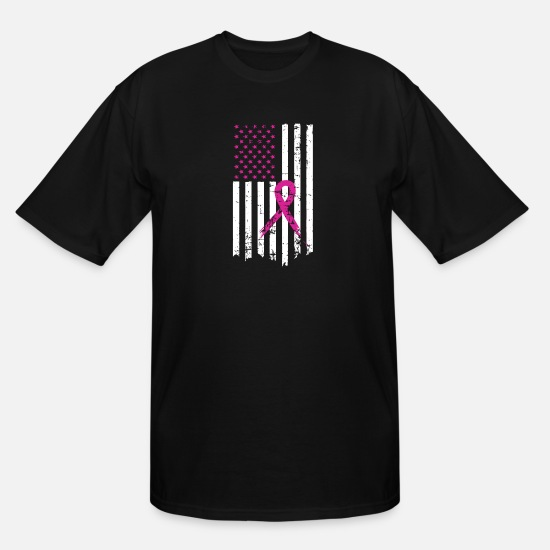 Cancer Shirts Tops T-shirts for Men Men/'s Breast Cancer Flag Pink Ribbon